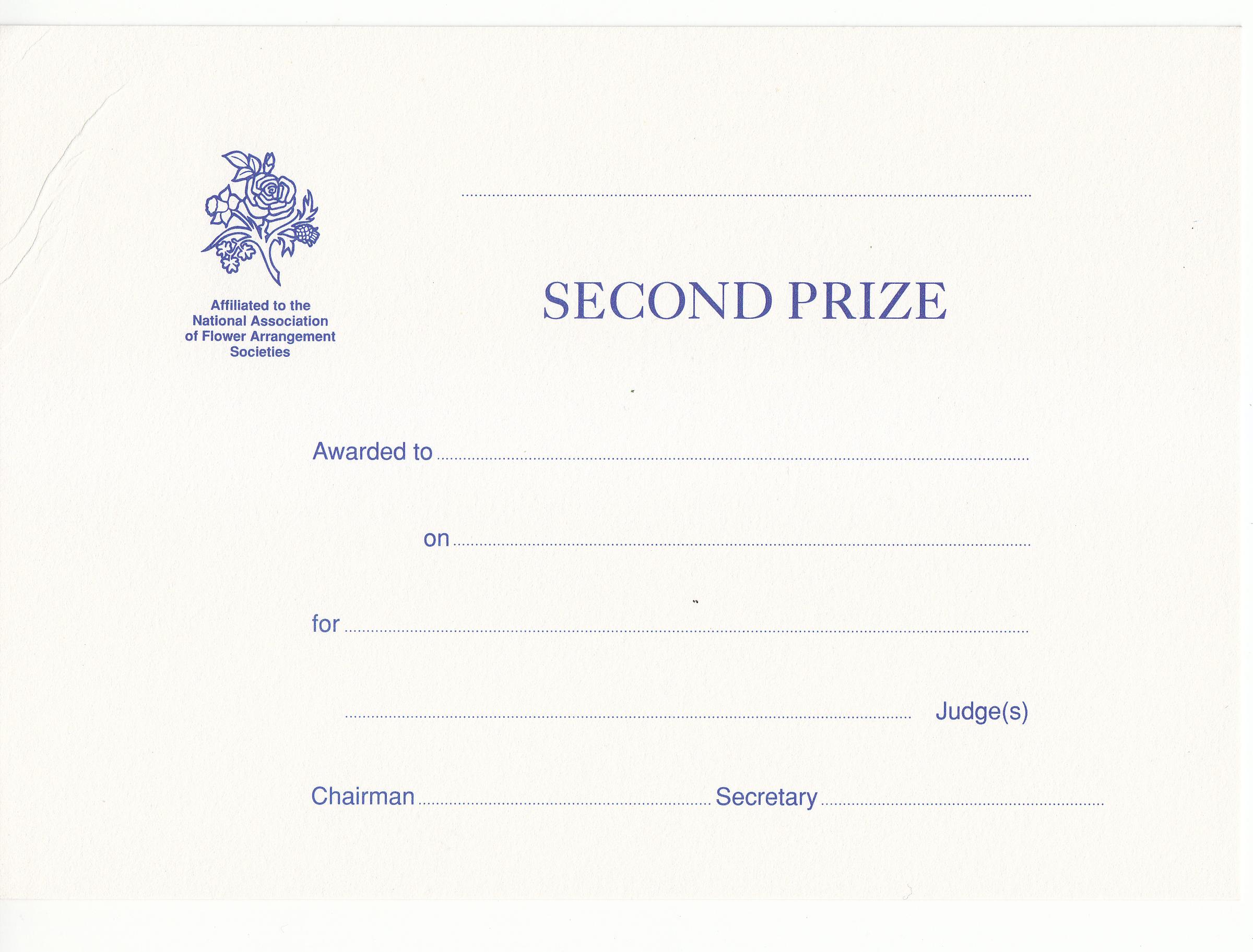 EAW003 2nd Prize Award