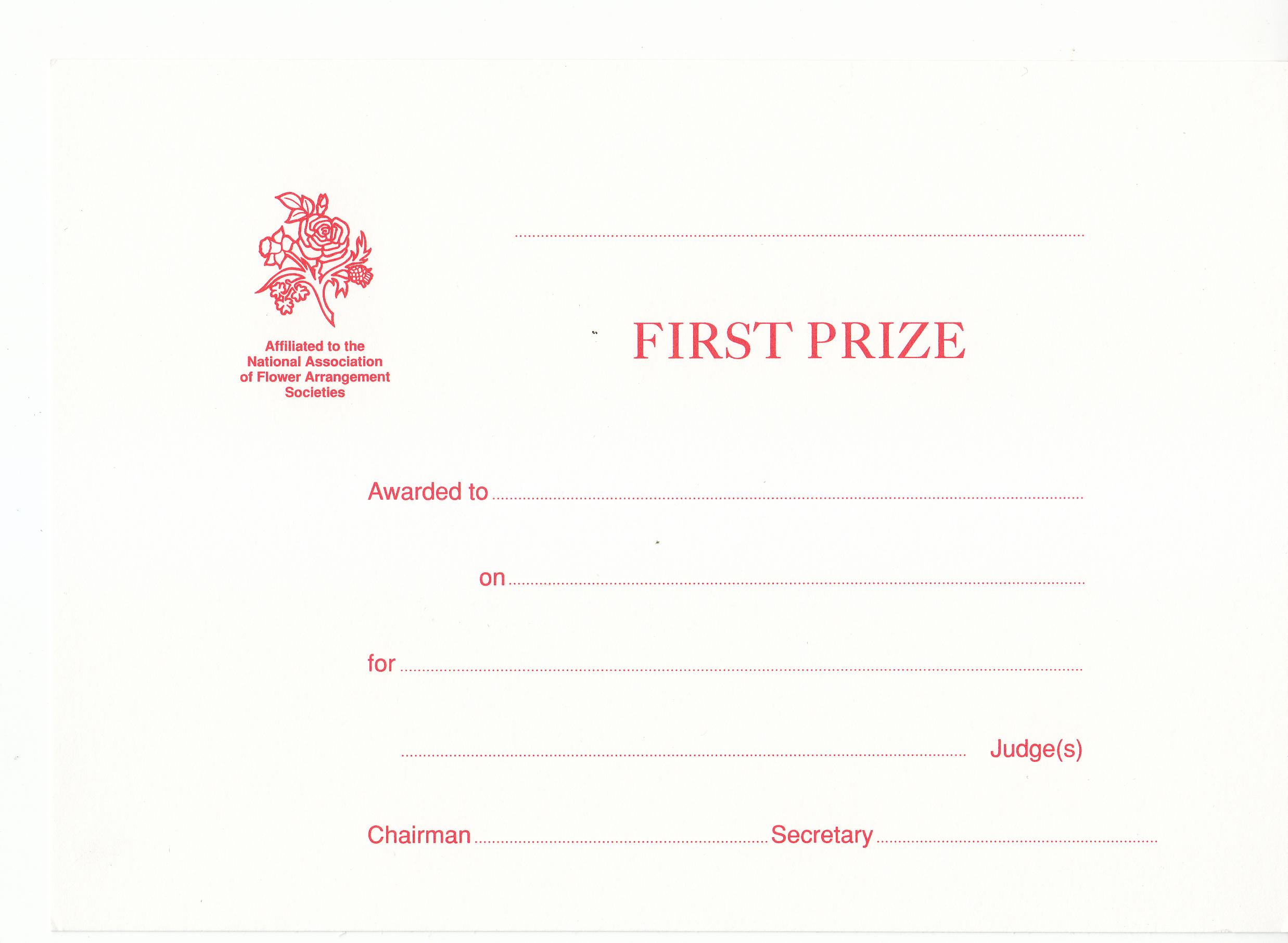 EAW002 1st Prize Award